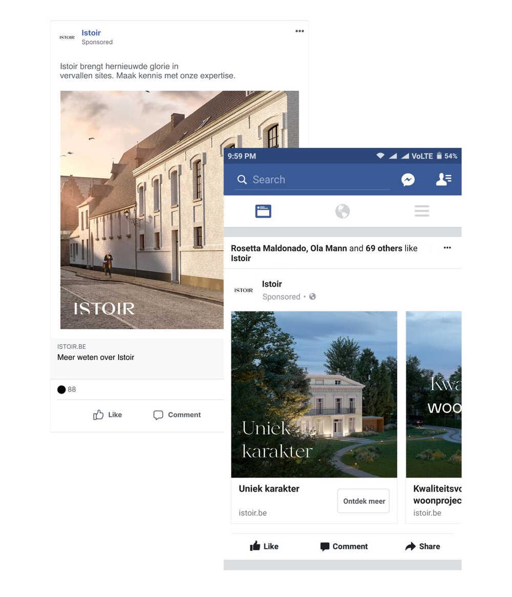 istoir social media marketing ads
