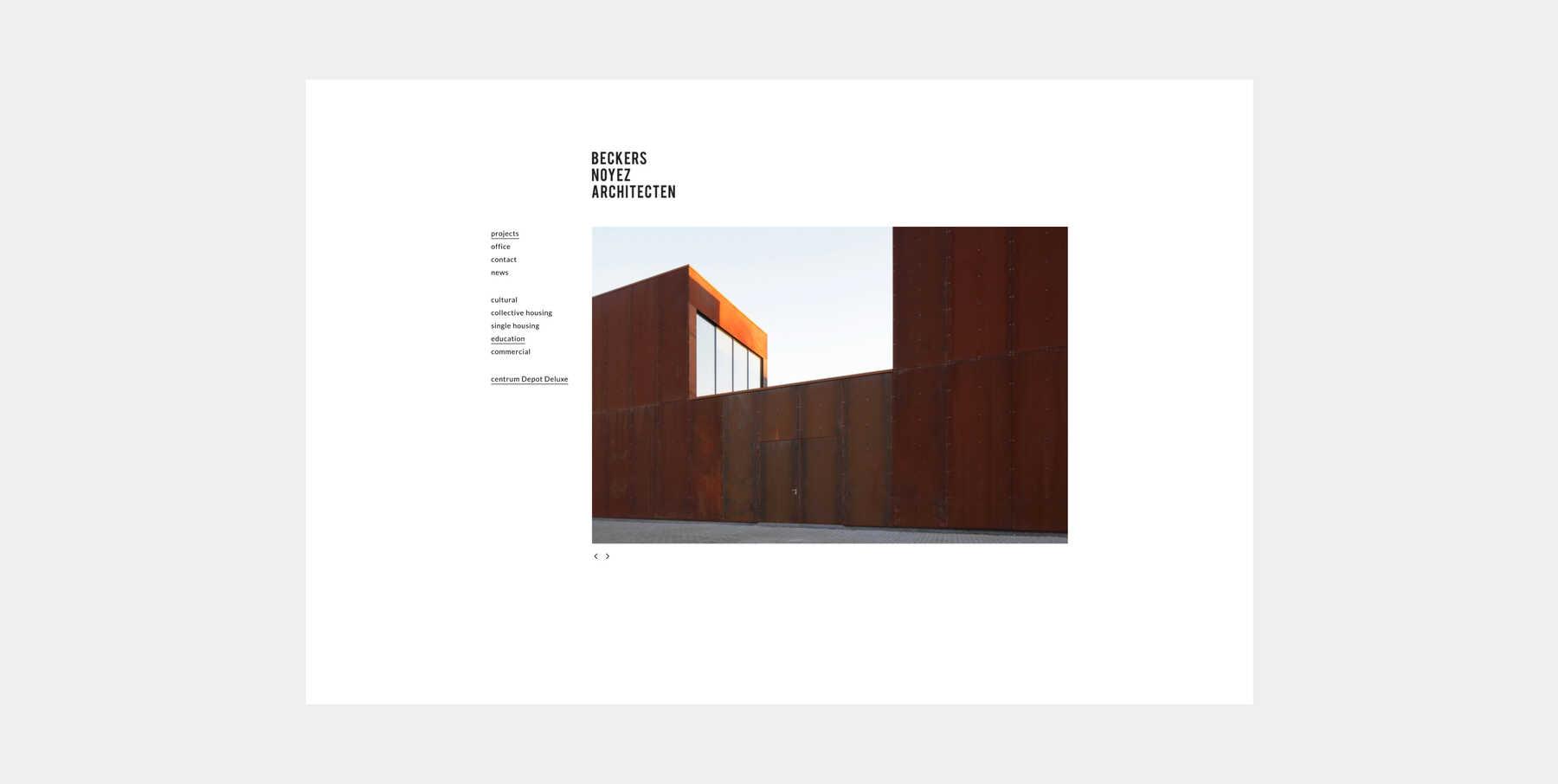 Beckers Noyez Architecten education project