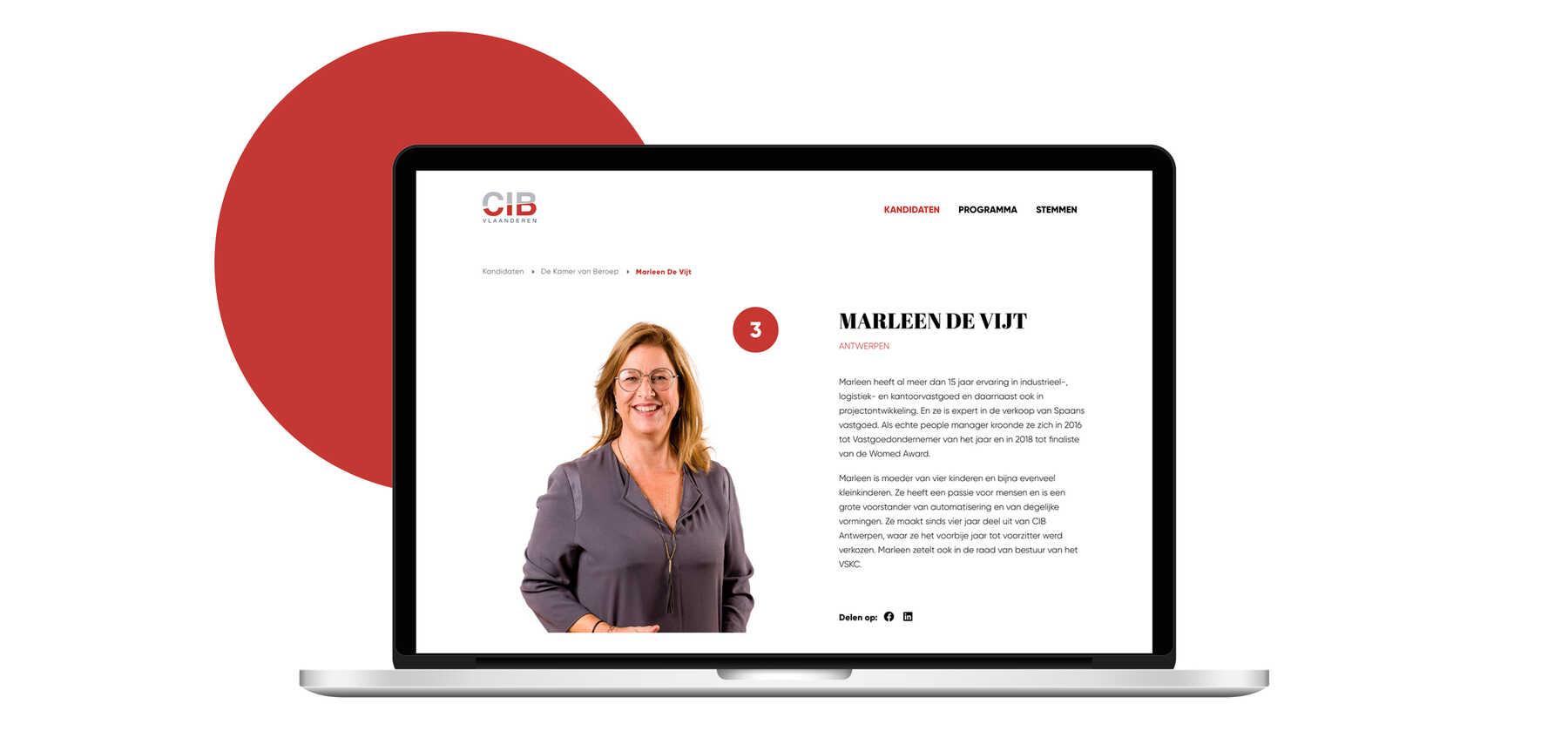 CIB Vlaanderen kandidaat verkiezing