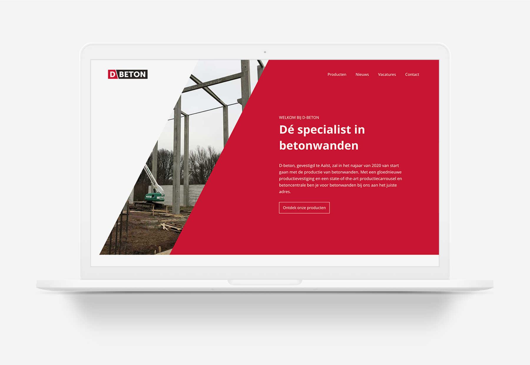 D-beton webdesign