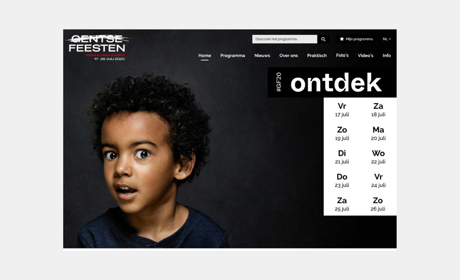 webdesign gentse feesten 2020