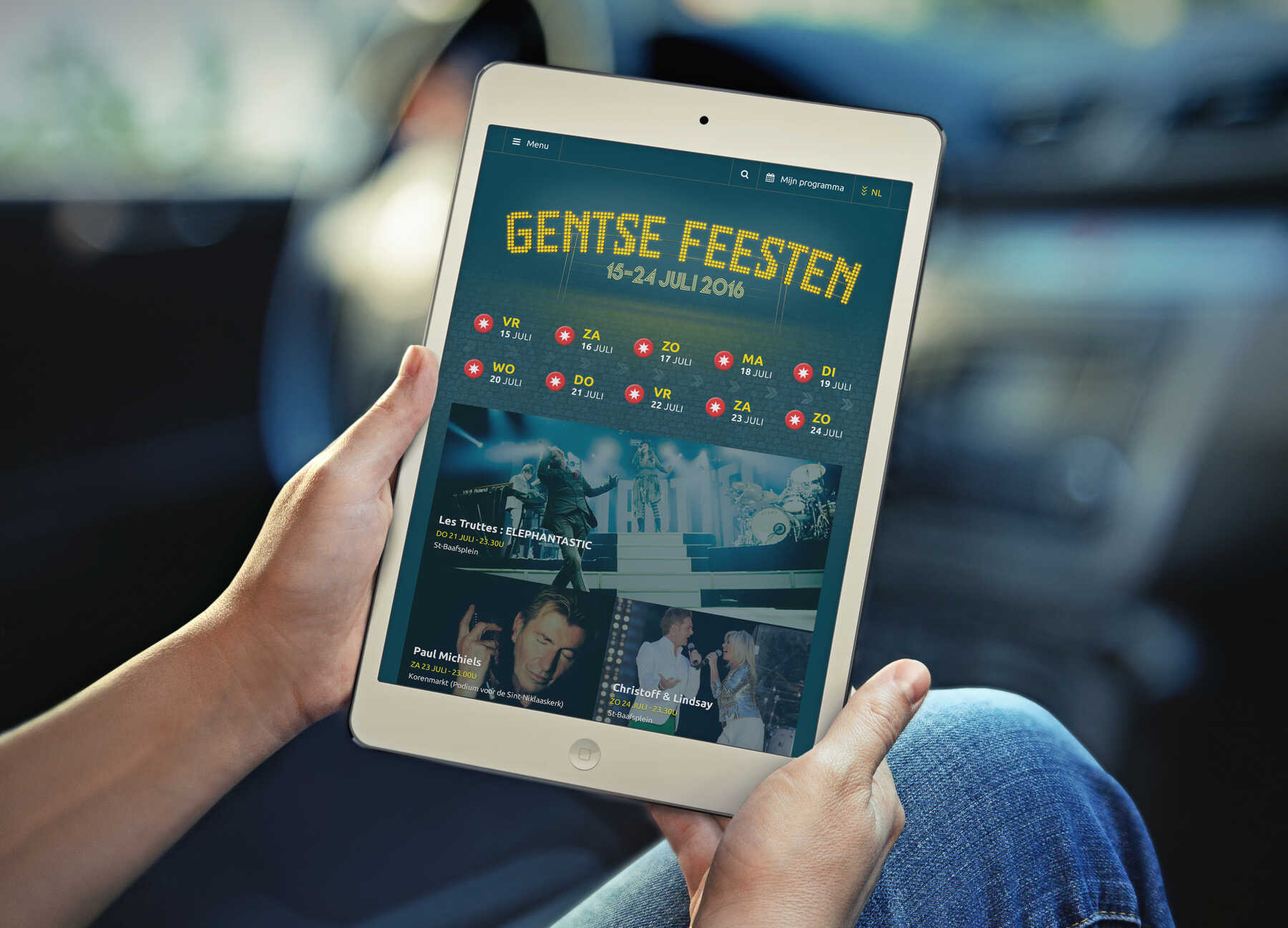 Gentse Feesten webdesign