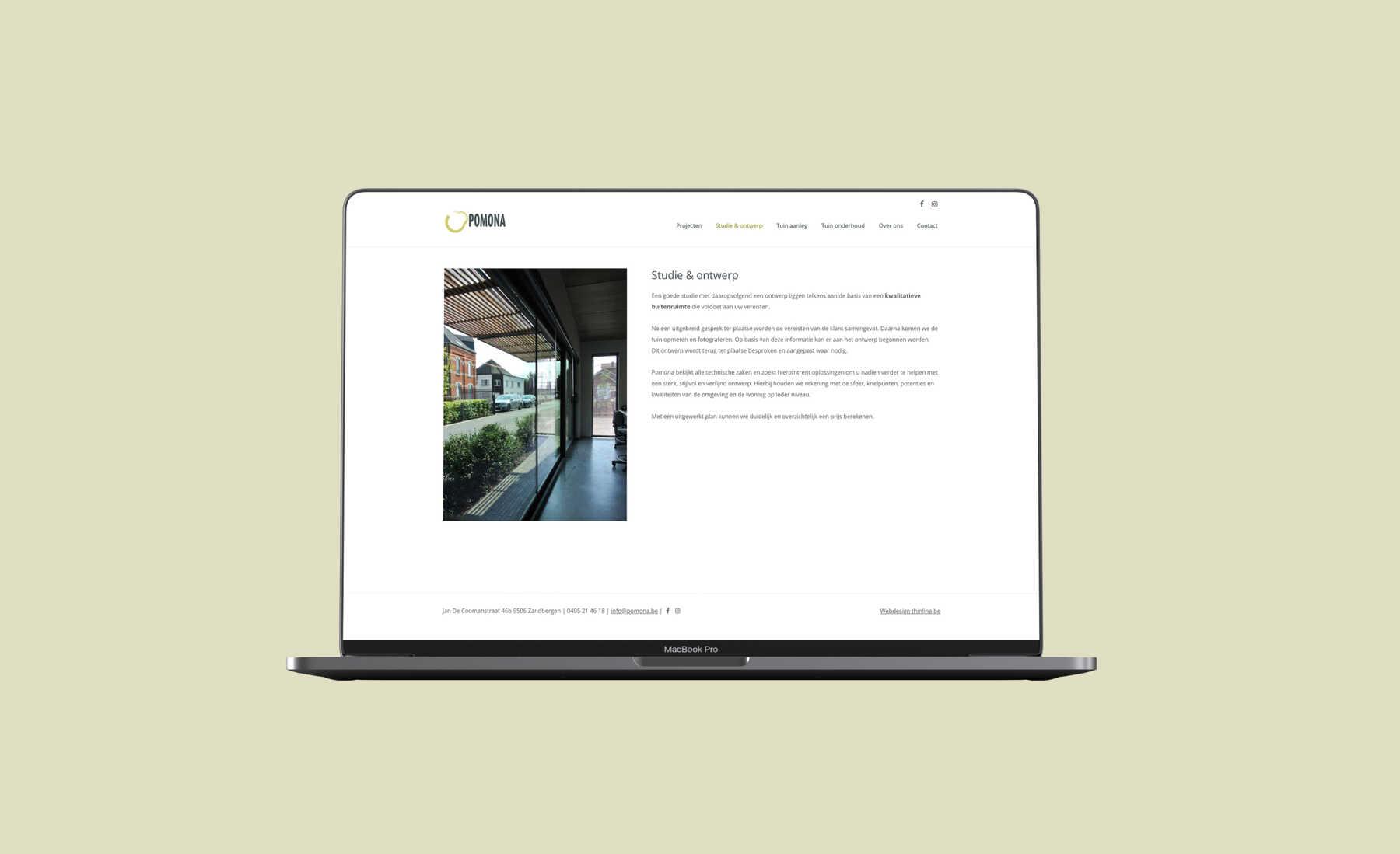 Pomona tuin ontwerp