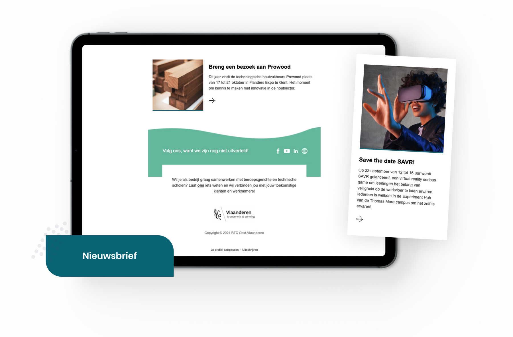 Regionaal Technologisch Centrum Oost-Vlaanderen nieuwsbrief template
