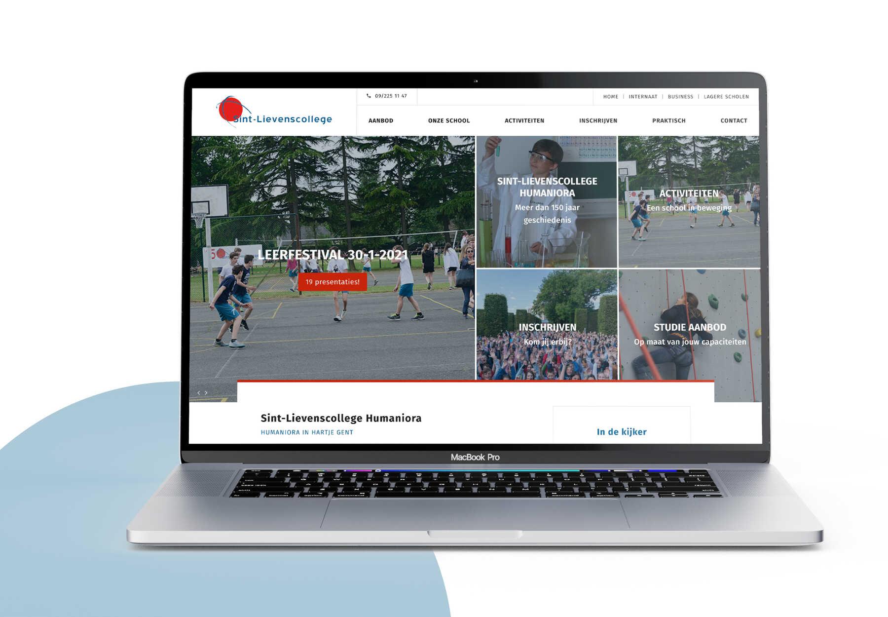 Sint Lievenscollege webdesign