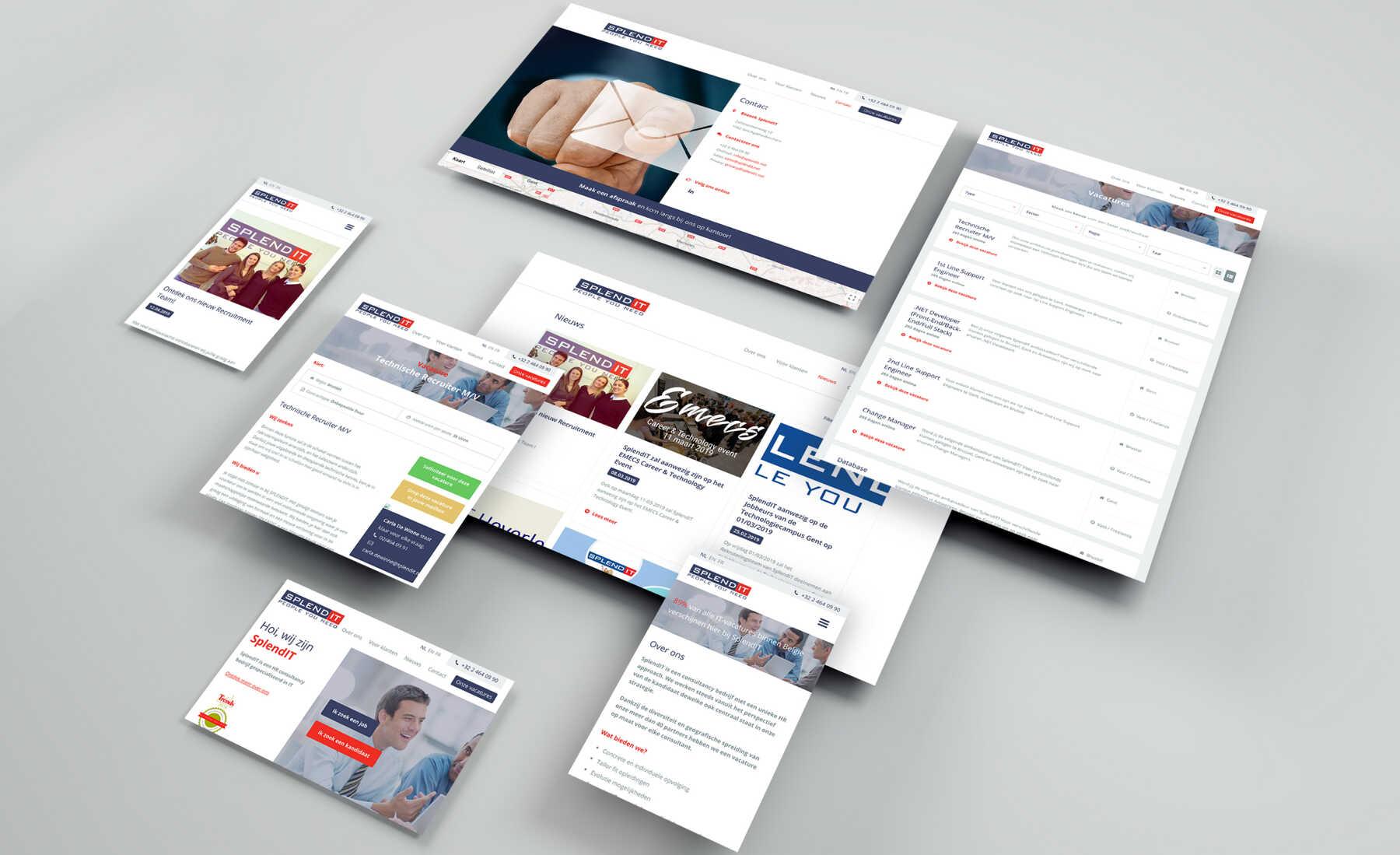 splendit vacatureplatform site design