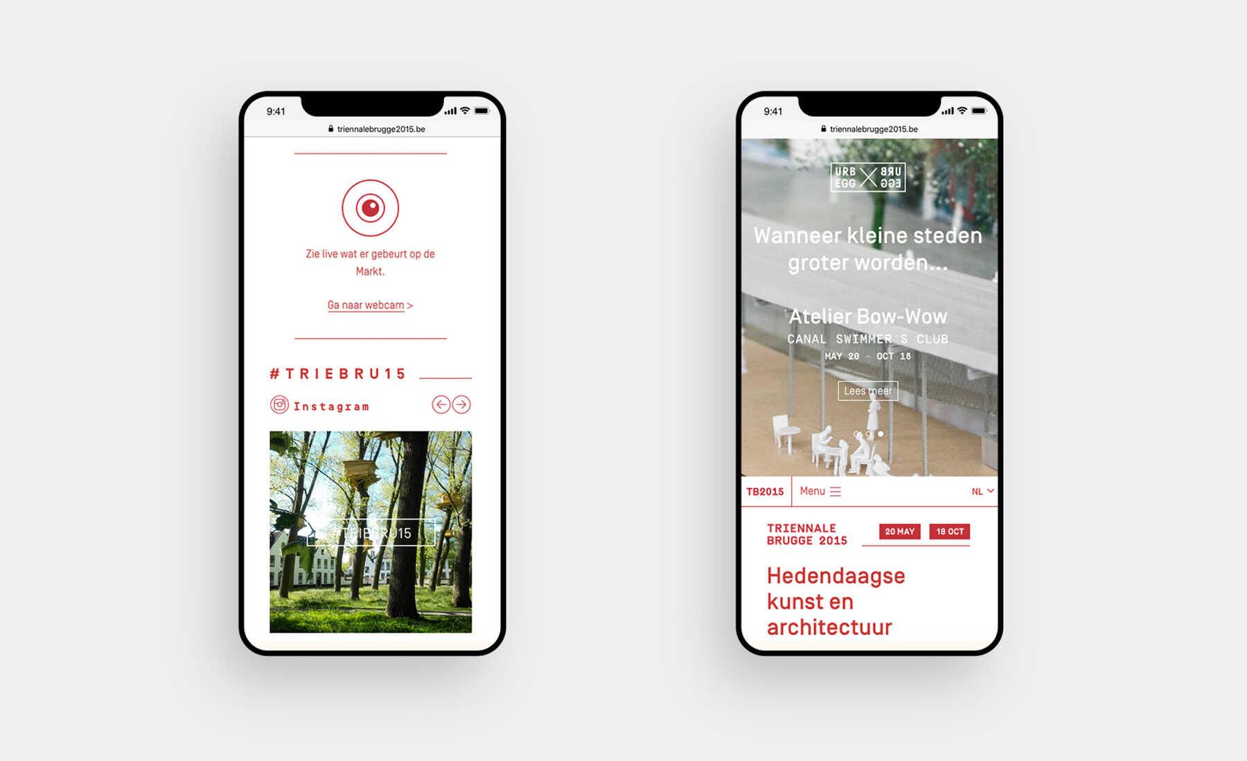 Triënnale Brugge site design