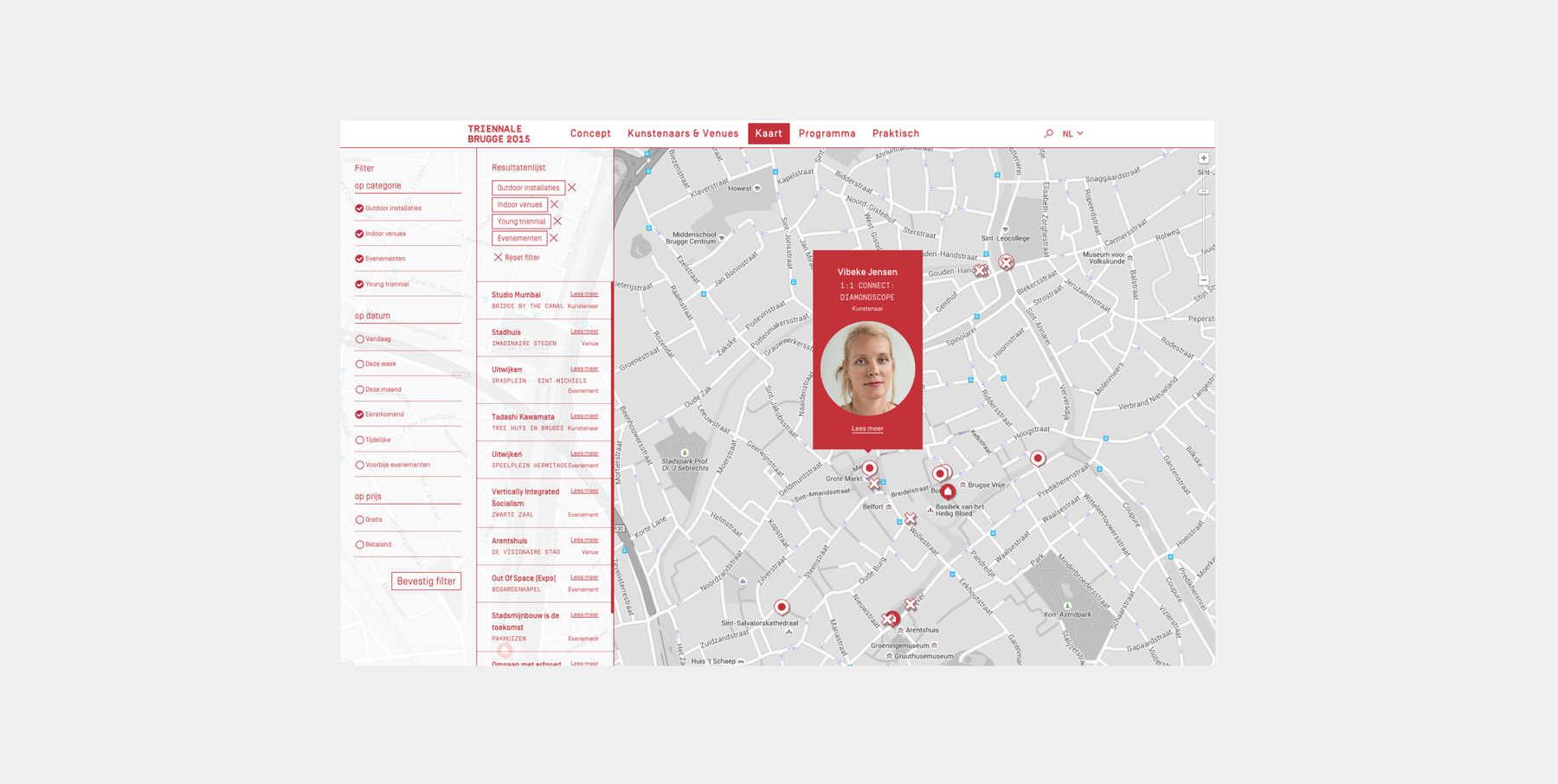 Triënnale Brugge kaart