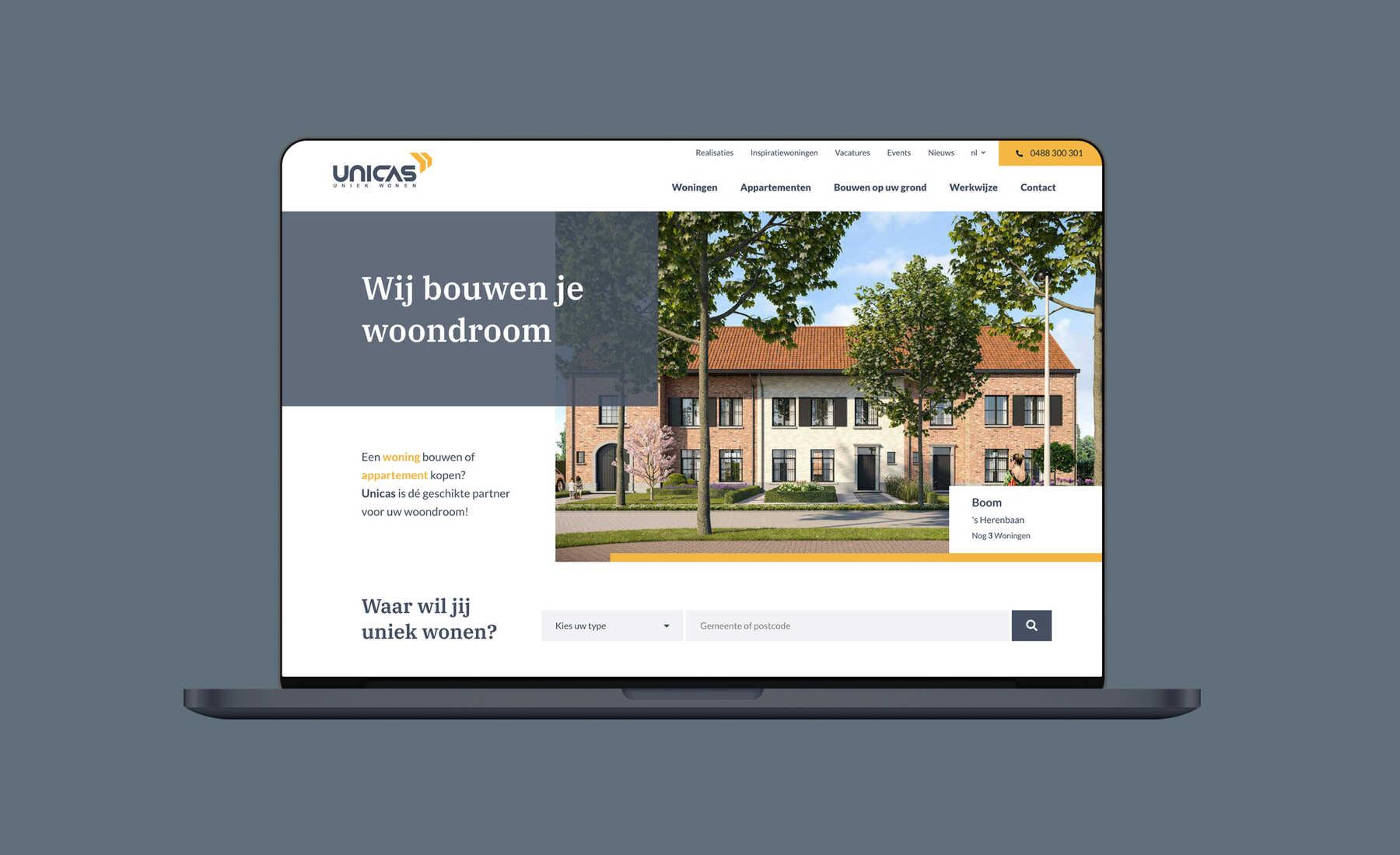 unicas site design