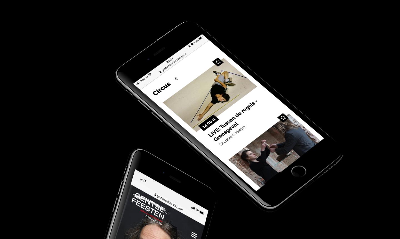 mobiel webdesign gentse feesten 2020