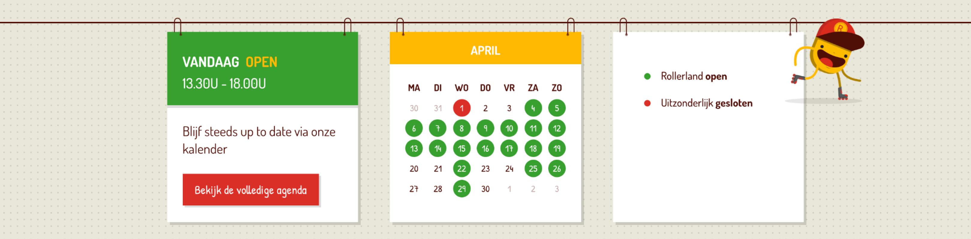 rollerland speelse kalender